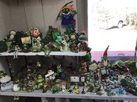 Some of the frog collection.