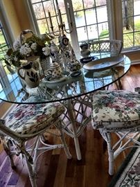 One Of My Faves...This Adorable Glass Top Dinette/Sun Room Set Is Ready For A New Home...