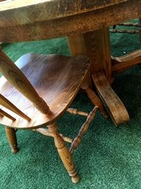 Also Waiting Is A Nice Pedestal Dinette Table w/6 Chairs and 1 Leaf...