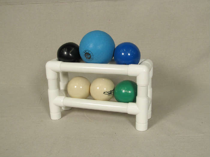 Set of 6 Thera balls on rack