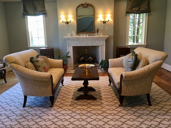 beautiful living room furnishings. Please note: rug not for sale