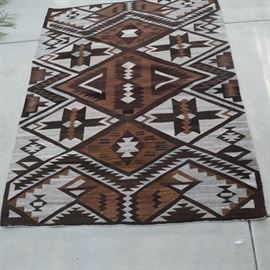 """Antique Native American rug approx 76 X 58"""".  No fading, holes or repairs."""