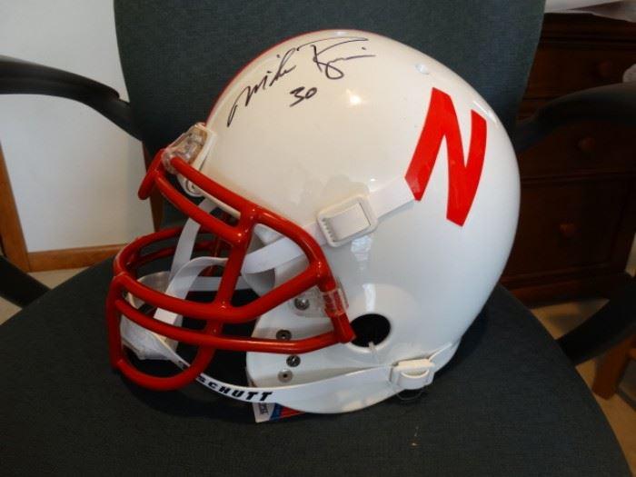 Mike Rozier signed NE Helmet