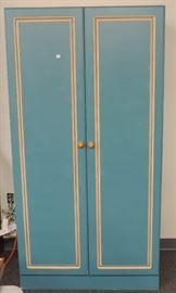 Blue Painted Wardrobe