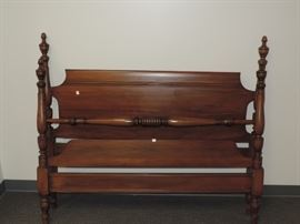 Full Size Mahogany Bed