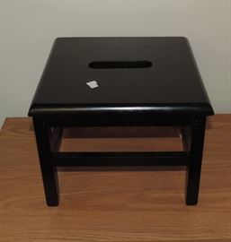 Black Footstool