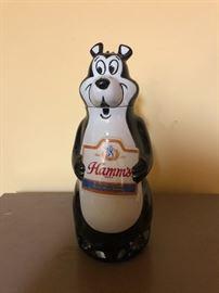 Hamms Ceramic Bear Bottle Sign