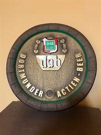 Dab Dortmunder Actien Beer Sign