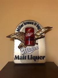 Miller Malt Liquor Sign