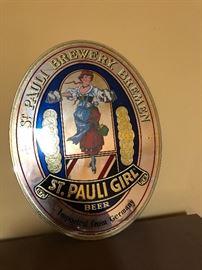 St. Pauli Girl Mirror Sign