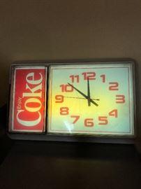 Coke Clock Sign