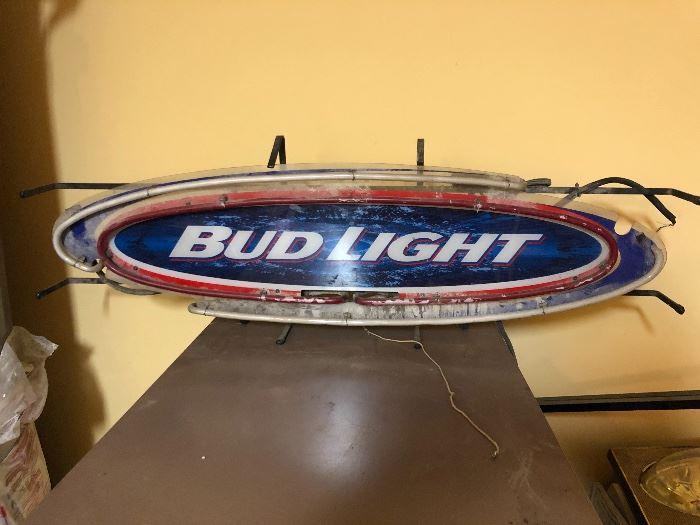 Bud Light Neon Sign (Broken)