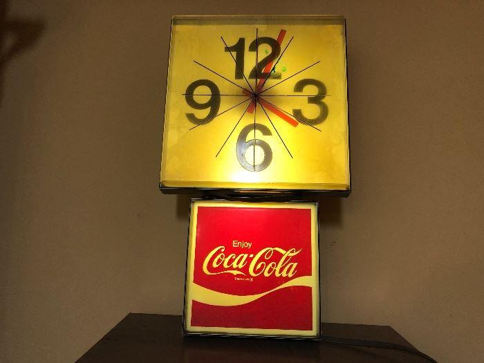 Coca Cola Clock Sign