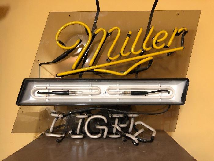 Miller Light Neon Sign (Broken)
