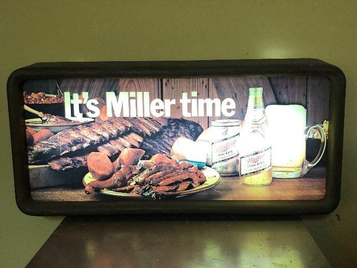 Miller Time beer sign