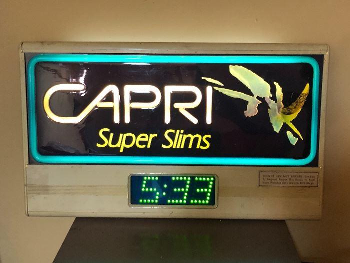Capri Super Slims Clock sign