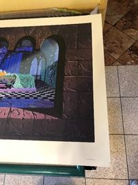 sleeping beauty serigraph signed and numbered