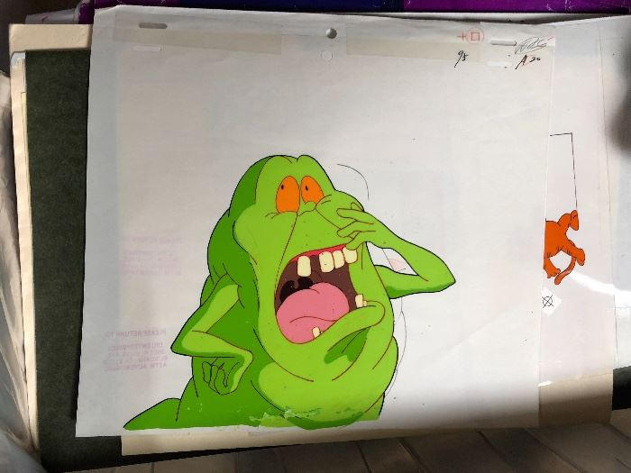 Slimer Animation Cel Cartoon