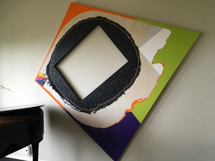 Artist: Michael Hoskins, Title: Big Bang, Medium: Acrylic on Canvas 8'x8.5'
