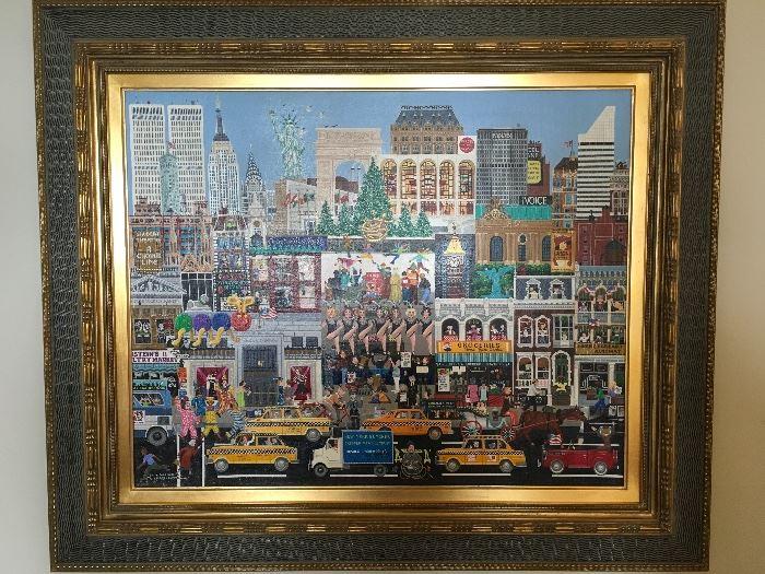 Artist: Bill W. Dodge N.Y.C. (American) Title: Ruth Warrick Goes To Work, Medium: Oil on Canvas