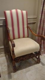 one of a pair of armchairs