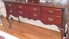 Queen Anne sideboard with flatware storage insert
