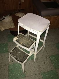 Industrial age step stool