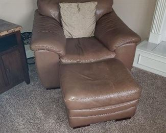 Leather Chair/Ottoman (2 available)