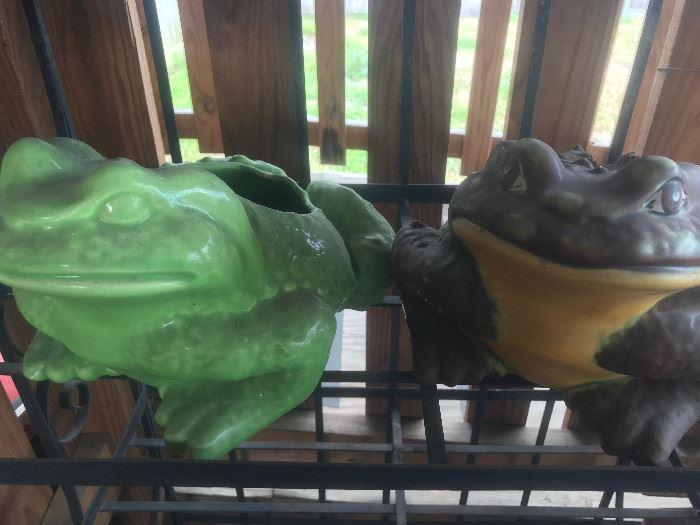 Vintage Planter Frogs