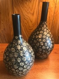 Black and Beige Vases
