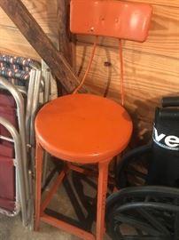 Vintage Orange Stool