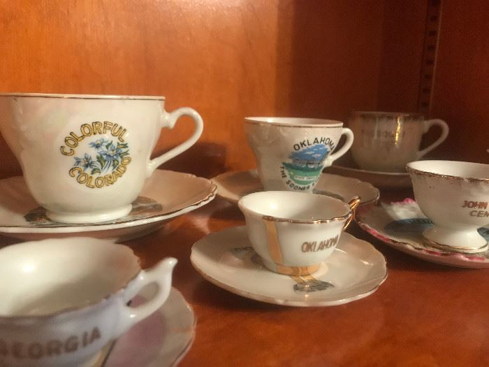 Collection of all State Tea Cups