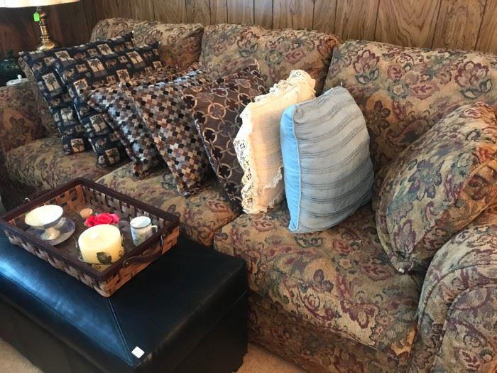 Sofa, Storage Bin Coffee Table