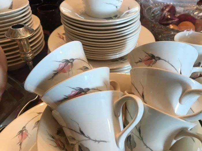 Dawn Rose Dishes  by Knowles, designed by Kalla