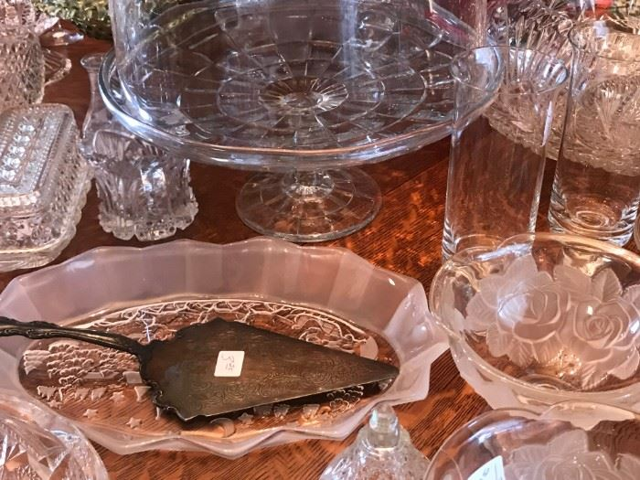 Cut Crystal and Glass Serving Pieces