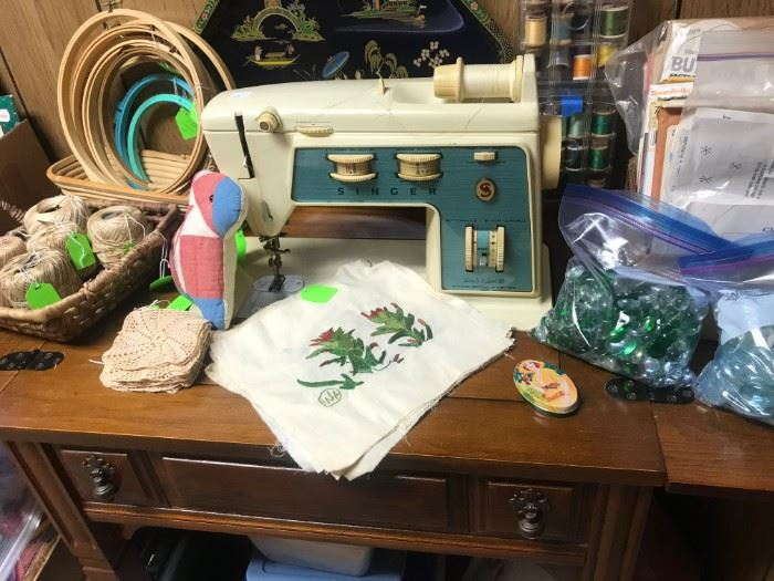 Singer Sewing Machine and Notions
