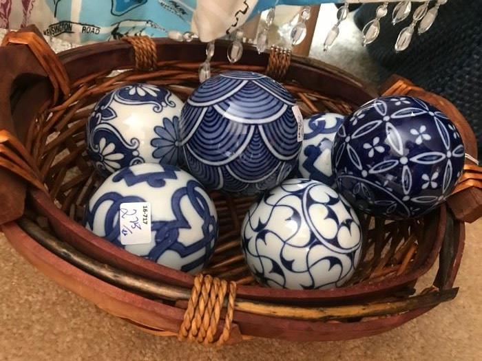 Blue and White Porcelain Balls
