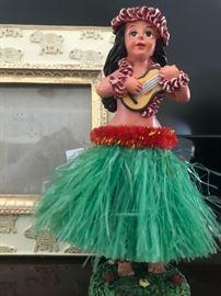 Vintage Hula Girl with Grass Skirt