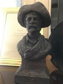 Chalk Cowboy Figurine