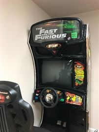 The Fast and the Furious driving arcade game