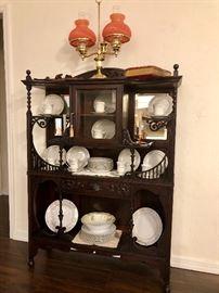 Beautiful mahogany antique etagere