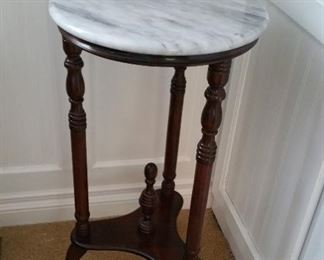 marble top plant stand, not old