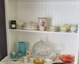 misc glass and china collectibles