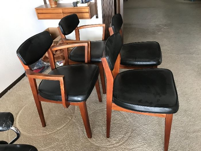 Oil Walnut table and 4 chairs, purchased 12/19/1959 from Irwin Interiors, New York