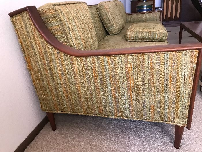Mid-Century Sofa, Cactus Green.  Purchased 12/15/1973 from Modernaire Furniture in New Jersey