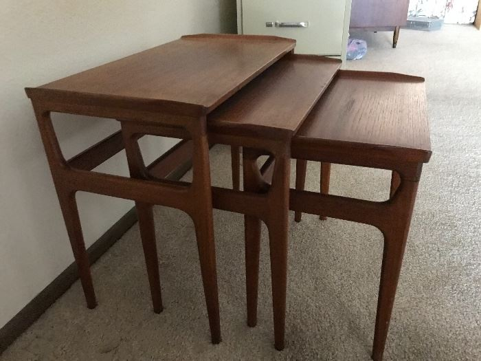 Nest of tables marked Furniture DANISH Control Made in Denmark
