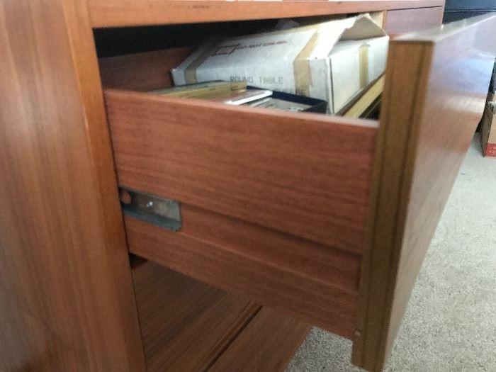 Teak 6 drawer chest