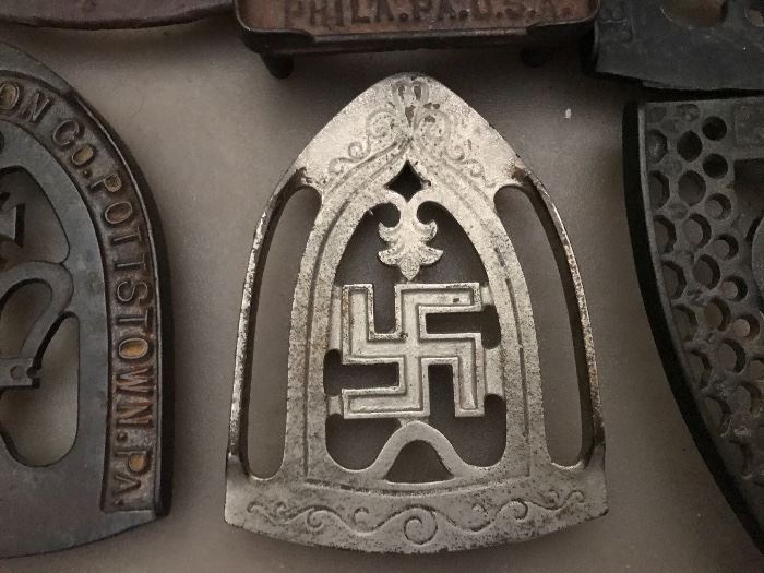 Iron trivets ( Note Whirling log)