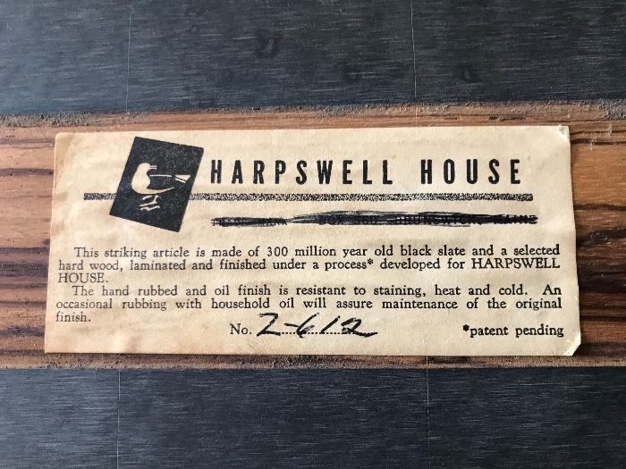 Harpswell 300 million year old black slate and hardwood trivets