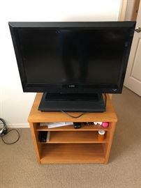 TV and teak stand